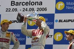 Podium: champagne for Martin Tomczyk, Bernd Schneider and Heinz-Harald Frentzen