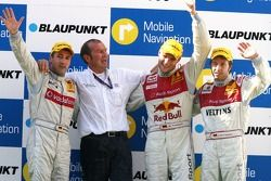 Podium: race winner Martin Tomczyk with Bernd Schneider and Heinz-Harald Frentzen