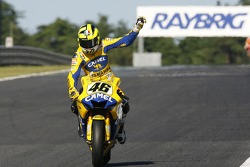 Valentino Rossi takes the second place