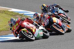 Toni Elias, Honda; Nicky Hayden, Repsol Honda Team