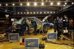 Subaru World Rally Team service area