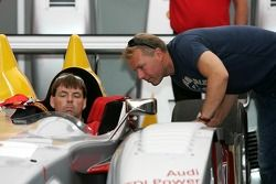 JJ Lehto dans le paddock Audi Sport North America