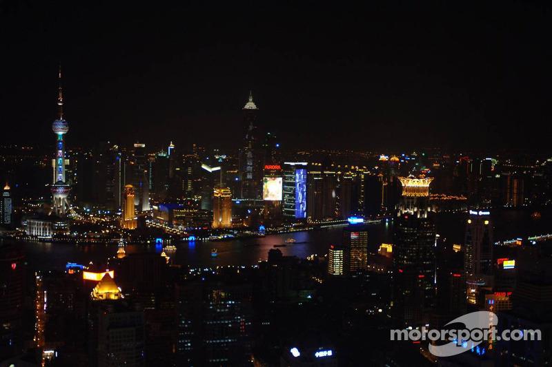 Centro de la ciudad Shanghai de noche