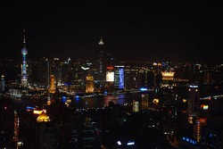 Downtown Shanghai by night