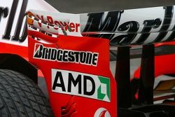 Scuderia Ferrari 248 F1 rear wing endplate