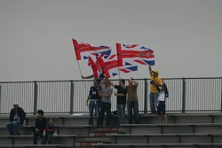 Jenson Button fans in the grandstand