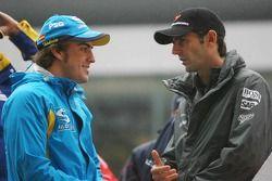 Fernando Alonso et Pedro de la Rosa