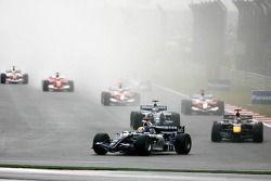 Départ : Mark Webber, Robert Doornbos et Nico Rosberg