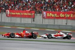 Felipe Massa devant Ralf Schumacher