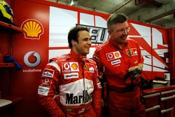 Felipe Massa et Ross Brawn