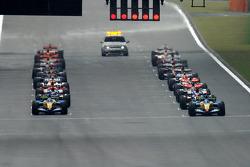Starting grid waits for green light