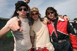 Tom 'Whitetrash' Milner, Gunnar 'Mullet' Jeannette et Andy 'Camaro' Lally