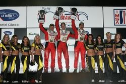 Podium LMGT2 : Scott Maxwell (3e), David Brabham et Sébastien Bourdais