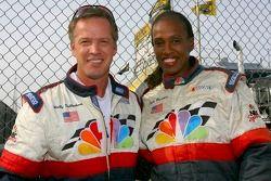 Jackie Joyner-Kersee, ancienne star de Track and Field, et l'analyste TV Wally Dallenbach