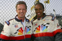 Jackie Joyner-Kersee, former Track and Field star, and TV Analyst Wally Dallenbach
