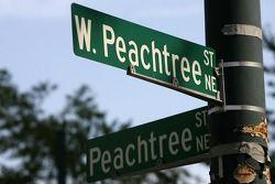 Visite d'Atlanta : une plaque de rue célèbre du centre ville