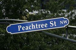 Visit of Atlanta: a popular street plate in downtown Atlanta