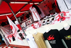 Super Aguri F1 Team merchandise stand