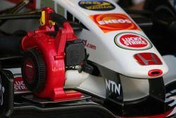 Dispositivo de enfriamiento de frenos de Honda Racing F1 RA106