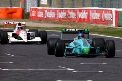 Ivan Capelli en el March y Gehard Berger en el McLaren Honda