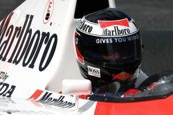 Gerhard Berger dans la McLaren Honda