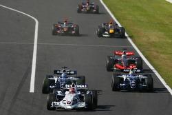 Robert Kubica, Nico Rosberg et Mark Webber