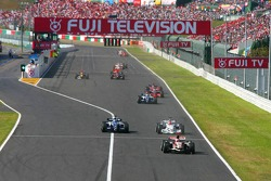 Rubens Barrichello, Nico Rosberg et Robert Kubica