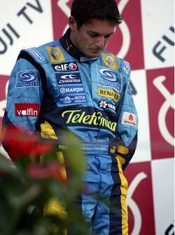 Podium: Giancarlo Fisichella ému après la mort d'un ami proche la semaien précédente
