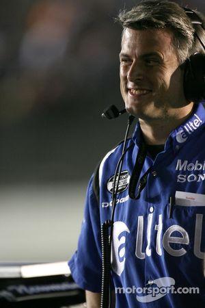 Ryan Newman's crew chief Matt Borland