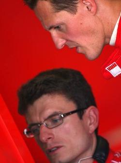 Michael Schumacher and Chris Dyer
