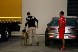 Michael Schumacher avec son chien Shiva