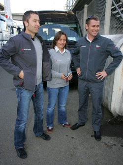 Vanina Ickx, Tom Kristensen et Heinz-Harald Frentzen