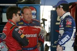 Jeff Gordon, Ken Schrader et Jimmie Johnson