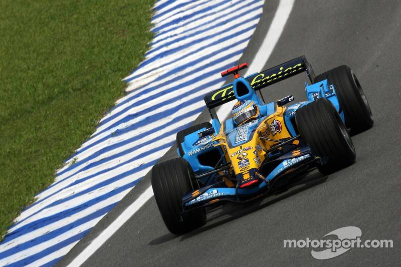 Fernando Alonso, 2º en el GP de Brasil 2006