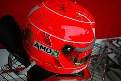 Casco de Michael Schumacher carrera final