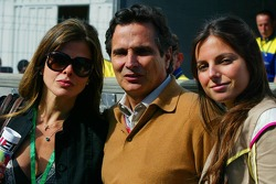 Nelson Piquet with his family