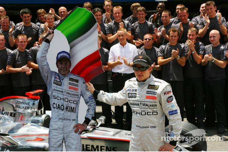 Kimi Raikkonen se despide de McLaren rumbo a Ferrari