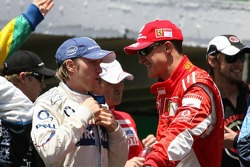 Nick Heidfeld and Michael Schumacher