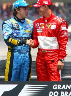 Fernando Alonso and Michael Schumacher