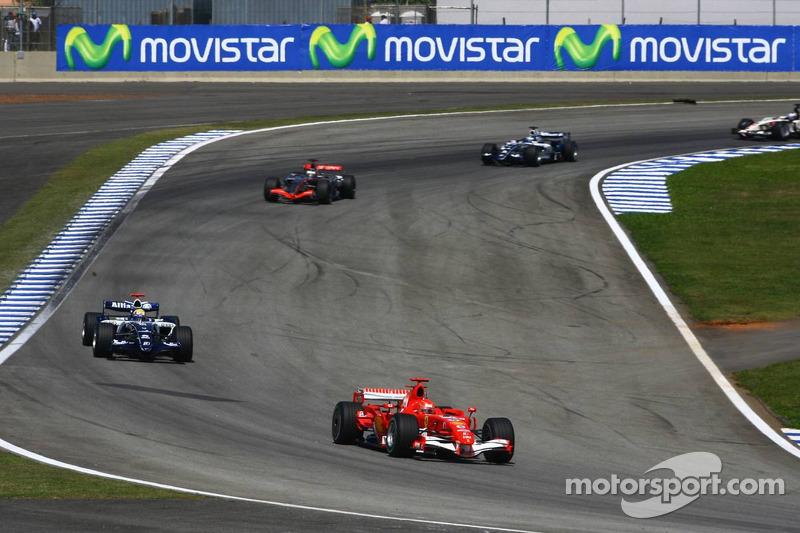 Schumachers letzte Einführungsrunde als Ferrari-Pilot