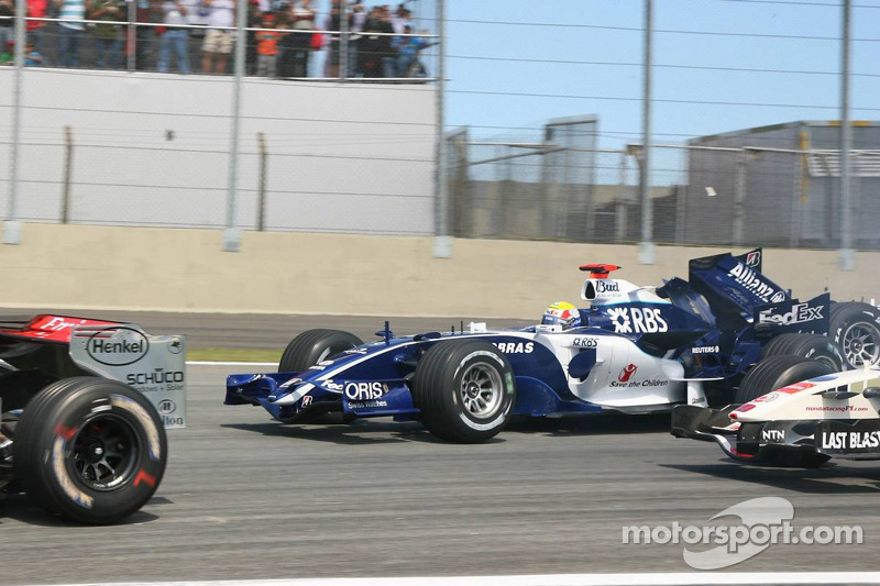 2006 Brezilya GP, Mark Webber vs Nico Rosberg, Williams
