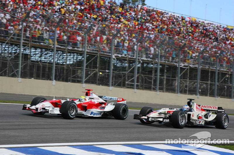 Ralf Schumacher y Jenson Button