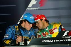 Fernando Alonso, campeón del mundo de F1 2006, y Felipe Massa
