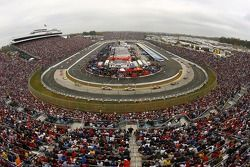 A view of the track during caution laps