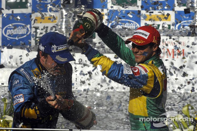 Podio: Felipe Massa y Fernando Alonso