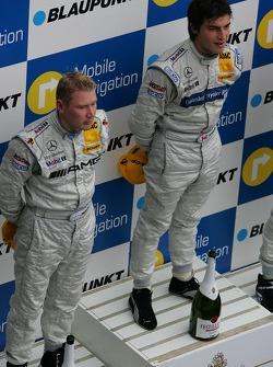 Podium: Bruno Spengler and Mika Hakkinen