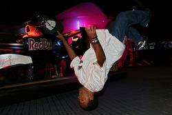 A breakdance performance