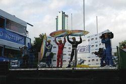 Célébrations sur le podium