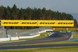 Very prominent Dunlop advertising on the Hockenheim race track