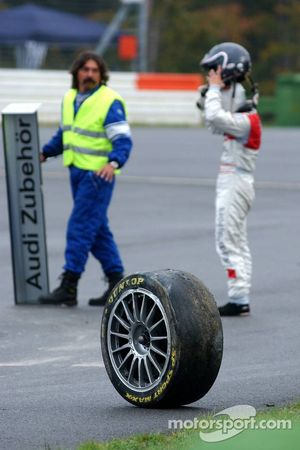 La roue de la voiture de Vanina Ickx